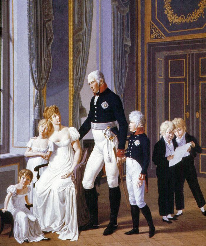 Friedrich Wilhelm III. mit seiner Familie